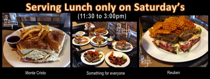 Serving Lunch on Saturdays only